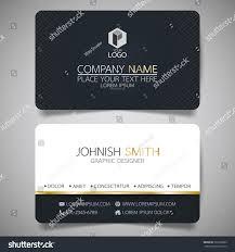 black modern creative business card name stock vector 563256835