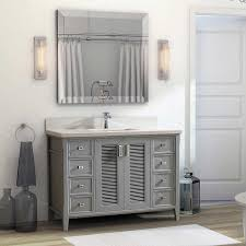 White Cottage Bathroom Vanity by 48 Inch Oxford Gray Finish Cottage Bathroom Vanity Cabinet With Mirror