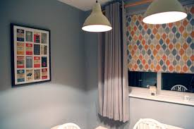 a cool copper look for zoe and dan u0027s grey dining room web blinds