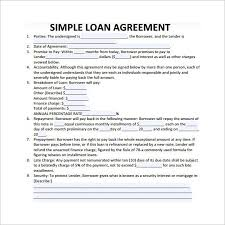 simple loan contract template 26 great loan agreement template