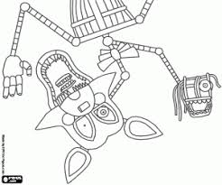 fnaf mangle coloring pages manglex five nights at freddy s coloring page printable