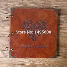 personalized wedding scrapbook 10 inches 12 inches personalized vintage photo album leather baby
