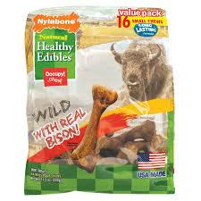 nylabone healthy edibles wild flavors dog chew treat bones