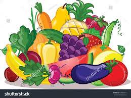 vegetables fruits vector background stock vector 124882477