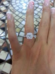 square style rings images Engagement rings 14k white gold diamond engagement ring www jpg