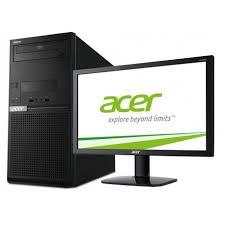 acer ordinateur de bureau pc de bureau acer extensa em2610 avec écran acer 20 pouces dt x0cem