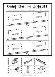 worksheets non standard measurement kindergarten grade one