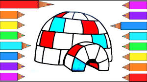 how to draw an igloo in 4 easy steps i learn coloring pages for