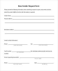 vendor form template vendor application template 12 free word pdf