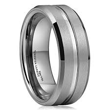 a few men wedding band king will classic 8mm high polished center matte finish men s