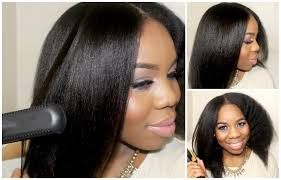 hairstyles for straight afro hair from curly to straight straightening my natural hair lovelyanneka