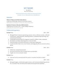 Resume Library Job Resume For Library Job