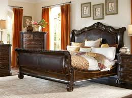 Oak Sleigh Bed A R T Furniture Valencia Oak Size Sleigh Bed