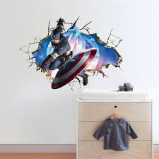 avengers captain america 3d wall stickers wallpaper decals art for avengers captain america 3d wall stickers wallpaper decals art for kids room living room