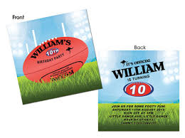kids birthday invitations afl football party