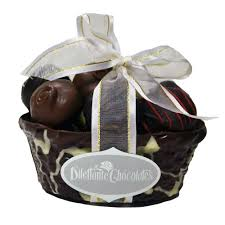 chocolate basket deluxe chocolate basket assorted chocolates in an edible basket