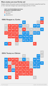 Red States Blue States Map by Republican States Map Republican And Democratic States 2016