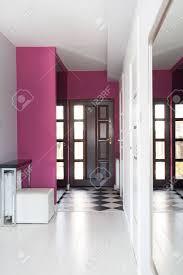 vibrant cottage main entrance of modern house stock photo