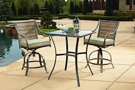 High Top Patio Furniture Set by Garden Oasis Brooks 3 Piece Tall Bistro Limited Availability