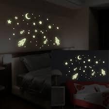 glow in the dark bedroom spaceship fluorescence noctilucent glow in dark luminous vinyl