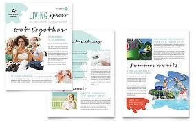 office newsletter newsletter templates indesign illustrator