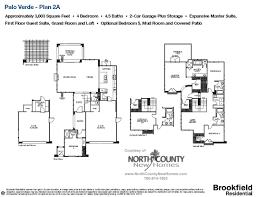 brookfield homes floor plans floor plan 2a palo verde carlsbad new homes