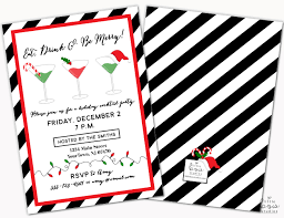 christmas cocktail party holiday party invite christmas party invitations personalized