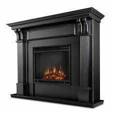 Black Electric Fireplace Black Wash Electric Fireplace Woodlanddirect Indoor
