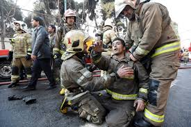 20 firefighters killed tehran building collapse