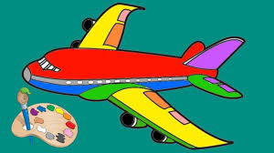 airplane coloring pages painting for kids youtube