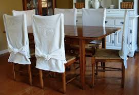 Cotton Dining Chair Covers Impressive How To Make Simple Slipcovers For Dining Room Chairs In