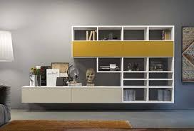 librerie muro pareti attrezzate per soggiorno e monolocali clever it