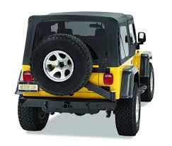 lj jeep bestop highrock 4x4 rear bumper w tire carrier for 97 06 jeep