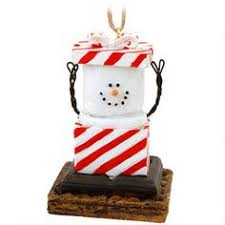 s more ornament wearing a santa sweater bronners s more