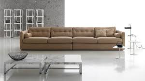 Contemporary Sofa  Leather  Fabric  Seater DUBLIN By - 4 seat leather sofa