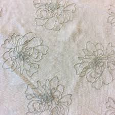 nl221 floral embroidered semi sheer light weight drapery home