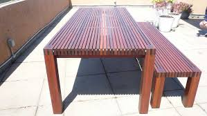 Ipe Outdoor Table  Bench In Element Designs - Ipe outdoor furniture