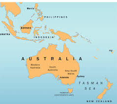 australia world map location australia on world map my