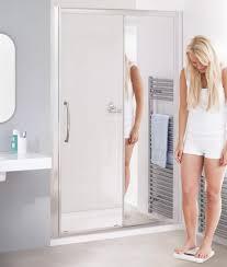 Bathroom Glass Sliding Shower Doors by Mirror 1000mm Mirrored Glass Sliding Shower Door