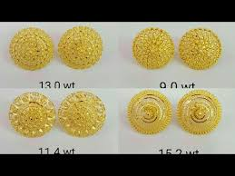 gold earring studs designs ear tops designs in gold with weight ear studs designs in gold
