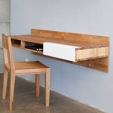 Diy Wood Desk Custom Diy Wood Wall Mounted Floating Computer Desk With Storage Ideas