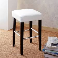 24 inch backless bar stools 24 inch backless counter high stool in genuine leather free