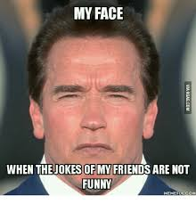 my face when thejokes of my friends are not funny memefulcom my