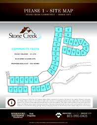 Utah County Plat Maps by Stone Creek Estates New Home Community In Heber City