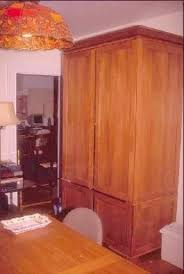 Tall Armoire Furniture Computer Armoire With Pocket Doors Foter