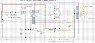 wiring diagram to install led headlight upgrade 60 or 80 series