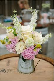 handmade elegant country wedding centerpieces garden roses and