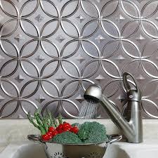 fasade kitchen backsplash panels fasade rings brushed nickel backsplash panel 18 x 24 free