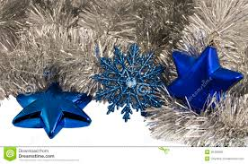 christmas decorations blue star and snowflake royalty free stock