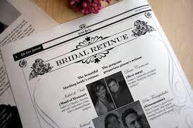 Magazine Wedding Programs Newsfavor Wedding Newspapers U2013 Custom Wedding Invitations